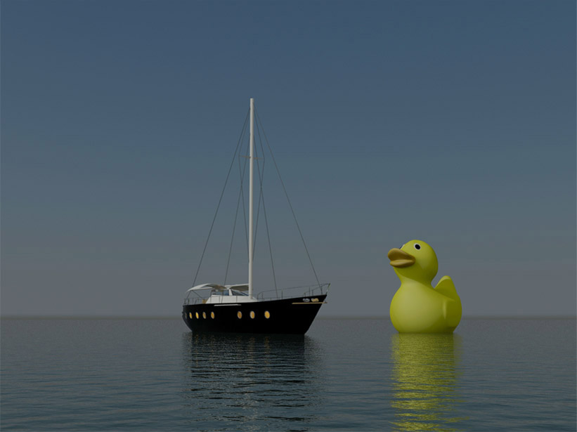 giant duck at day
